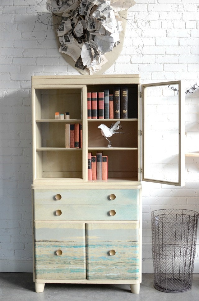 Kallymenia- Collaborative Cream Hutch with Original Sea Scape by Annie Koelle - knackstudio