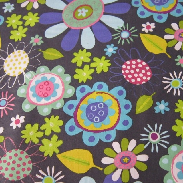 Fly Away Large  Blooms by Amy Schimler in Sunset 100% Cotton Fabric from Robert Kaufman - Fat Qtr - FabricFascination