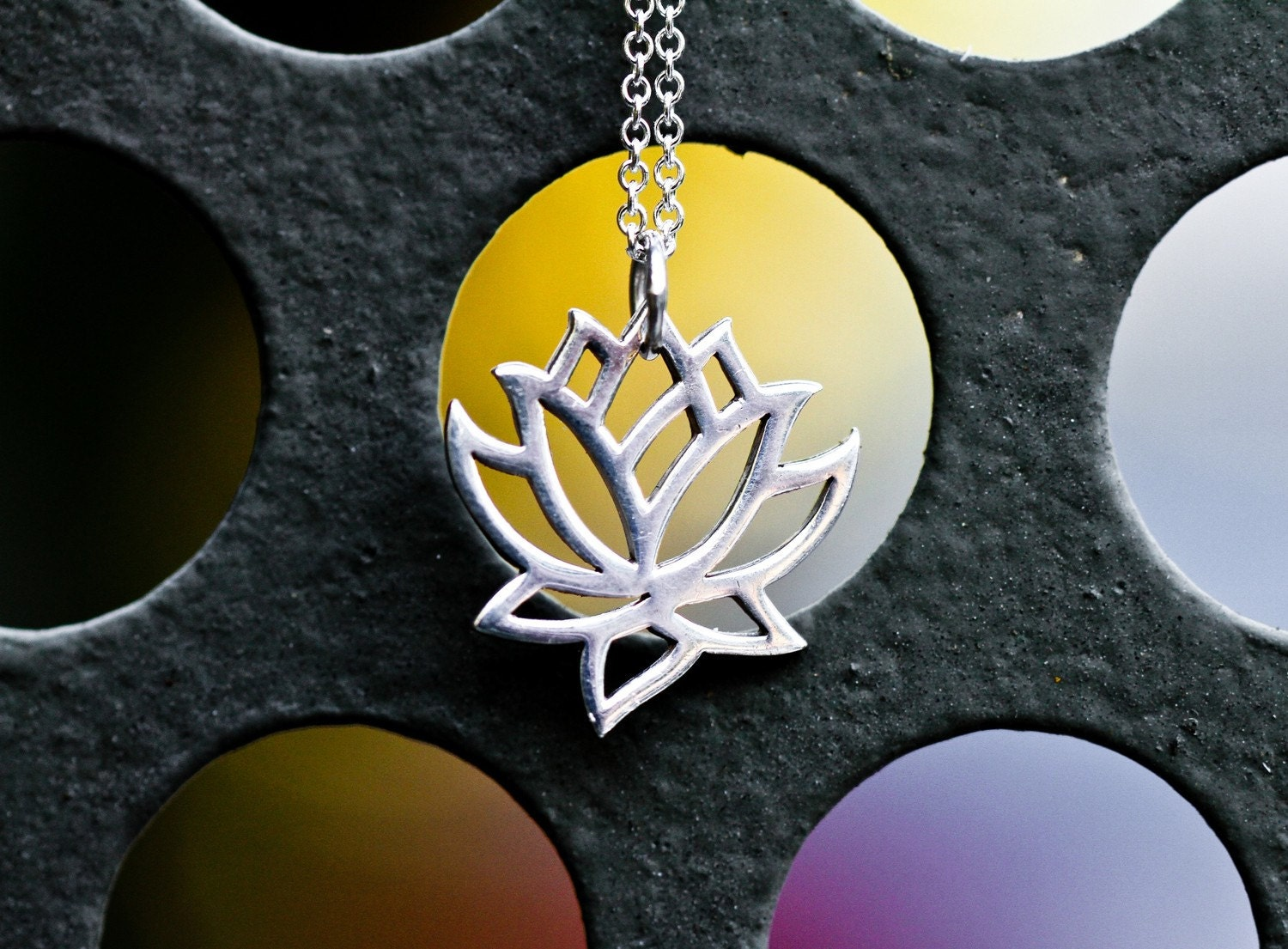 Water Blossom- Lotus Necklace