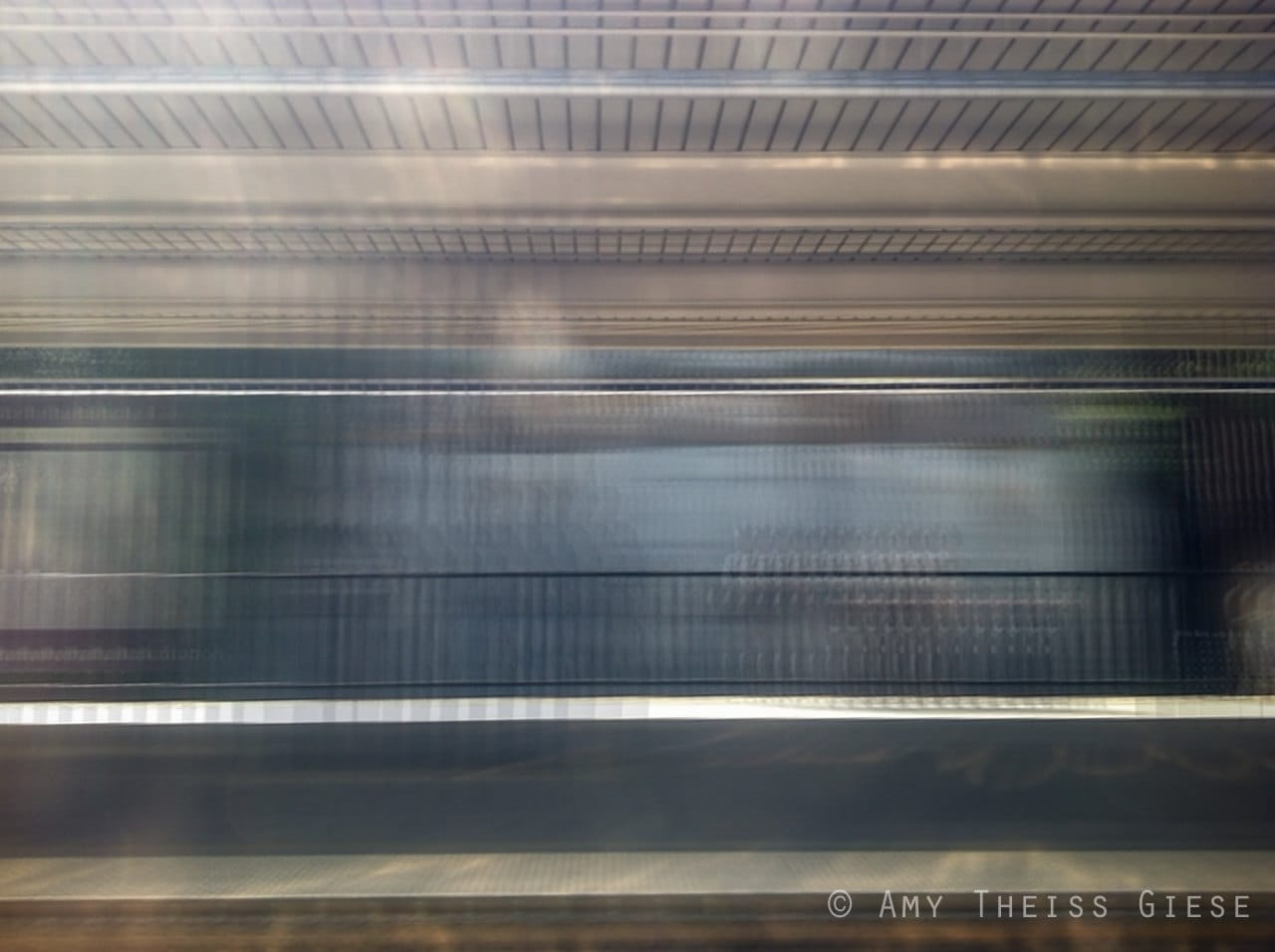 Linear Geometric Abstract Photography - 5x7 Blur, Blue, Gray, Lines, Movement - atgiese
