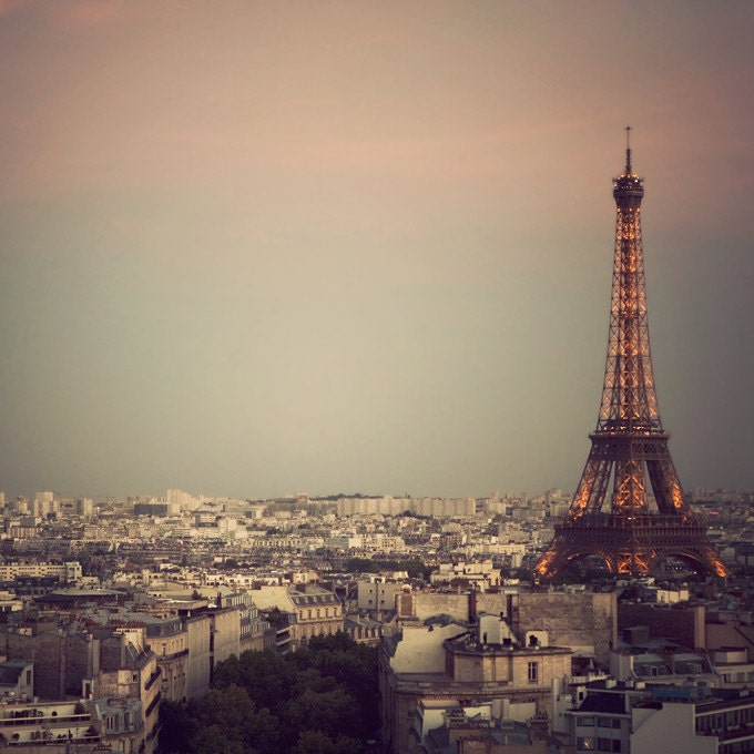 Paris photo - The Most Beautiful City - Eiffel Tower at sunset, France - Fine art travel photograph - EyePoetryPhotography