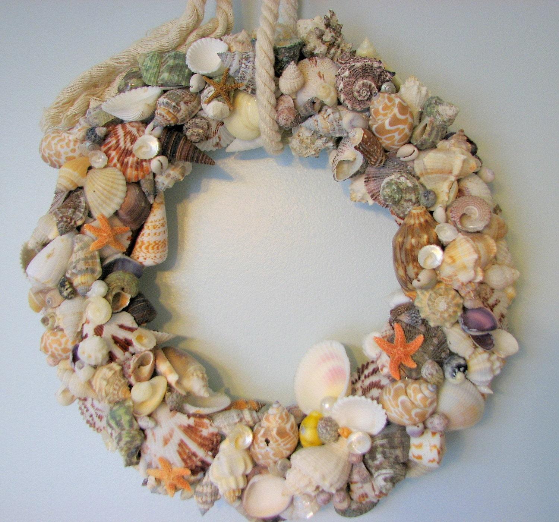 Пляж Декор Shell Венок - Морской Декор Seashell Венок ш Морская звезда, полностью покрывается