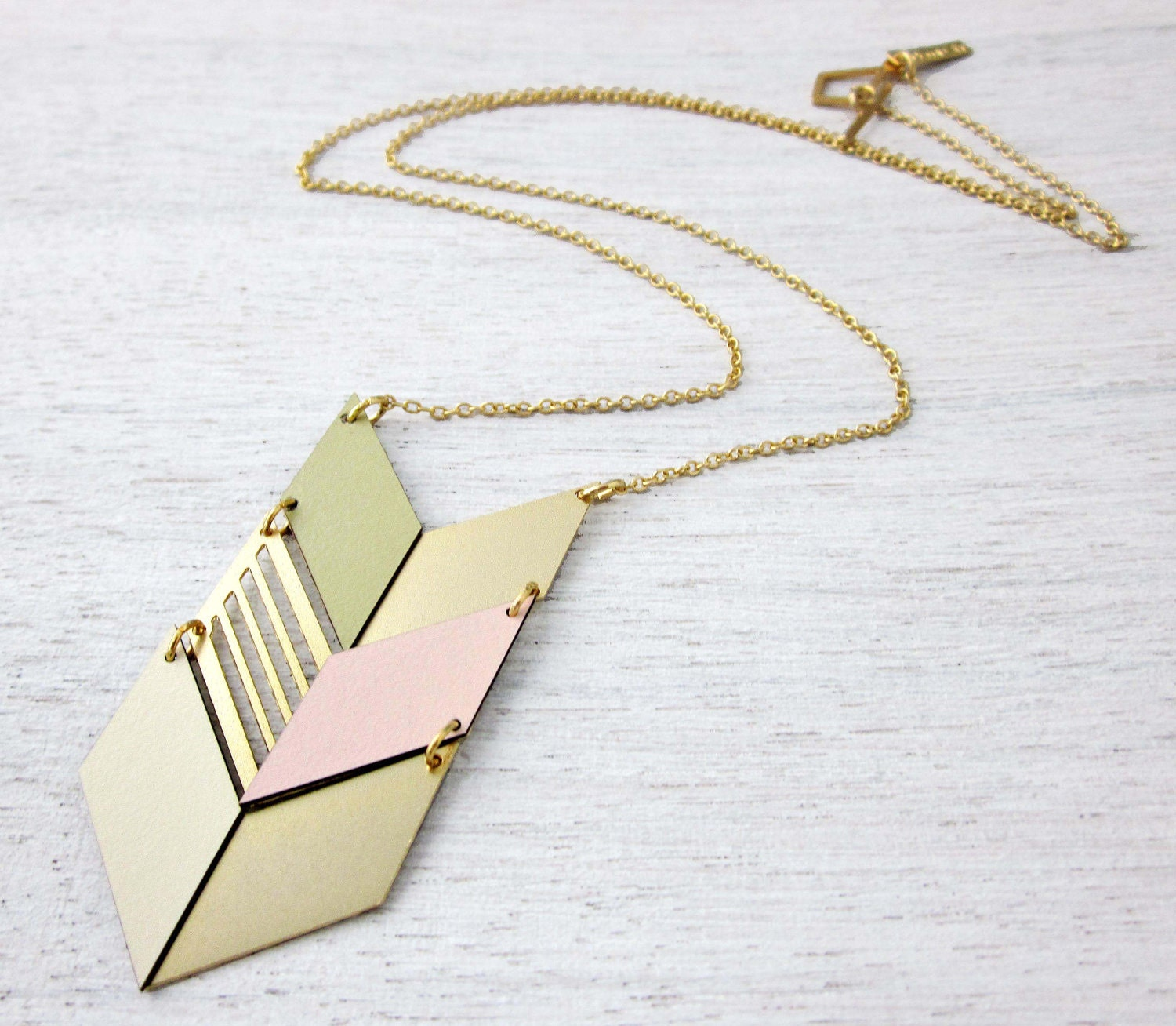 Formica Long Tribal Necklace in Gold - shlomitofir