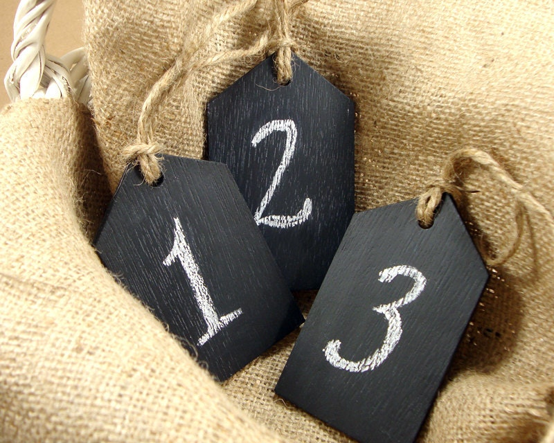 Chalk Board Wedding Table Number MADE TO ORDER From EventDesignShop
