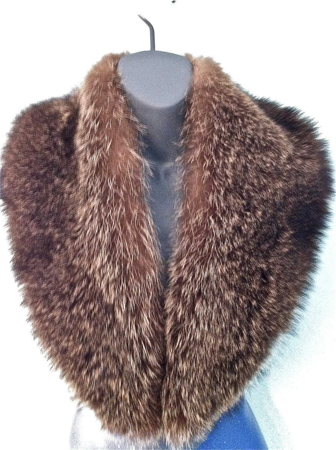SALE 1930s/1940s Silver Fox Fur Stole Shawl - EXCELLENT Condition - Super PLUSH/Fully Lined