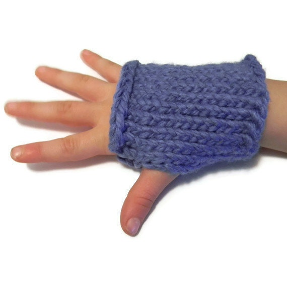 Kids Fingerless Gloves Sky Blue 2 to 6 years