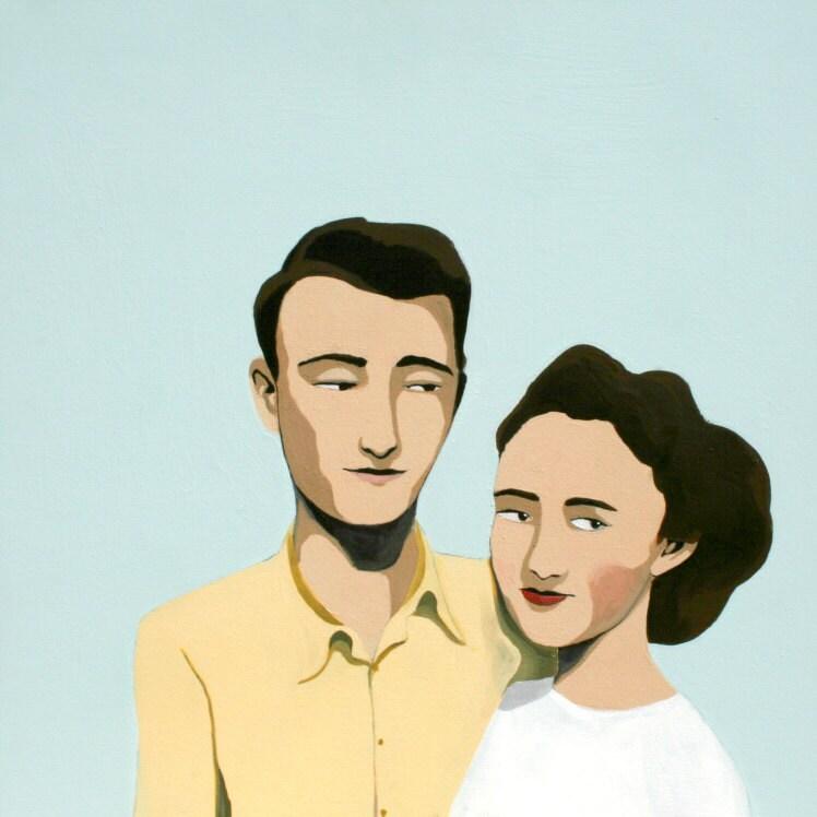 couple painting no.1 (print) - JordanGraceOwens