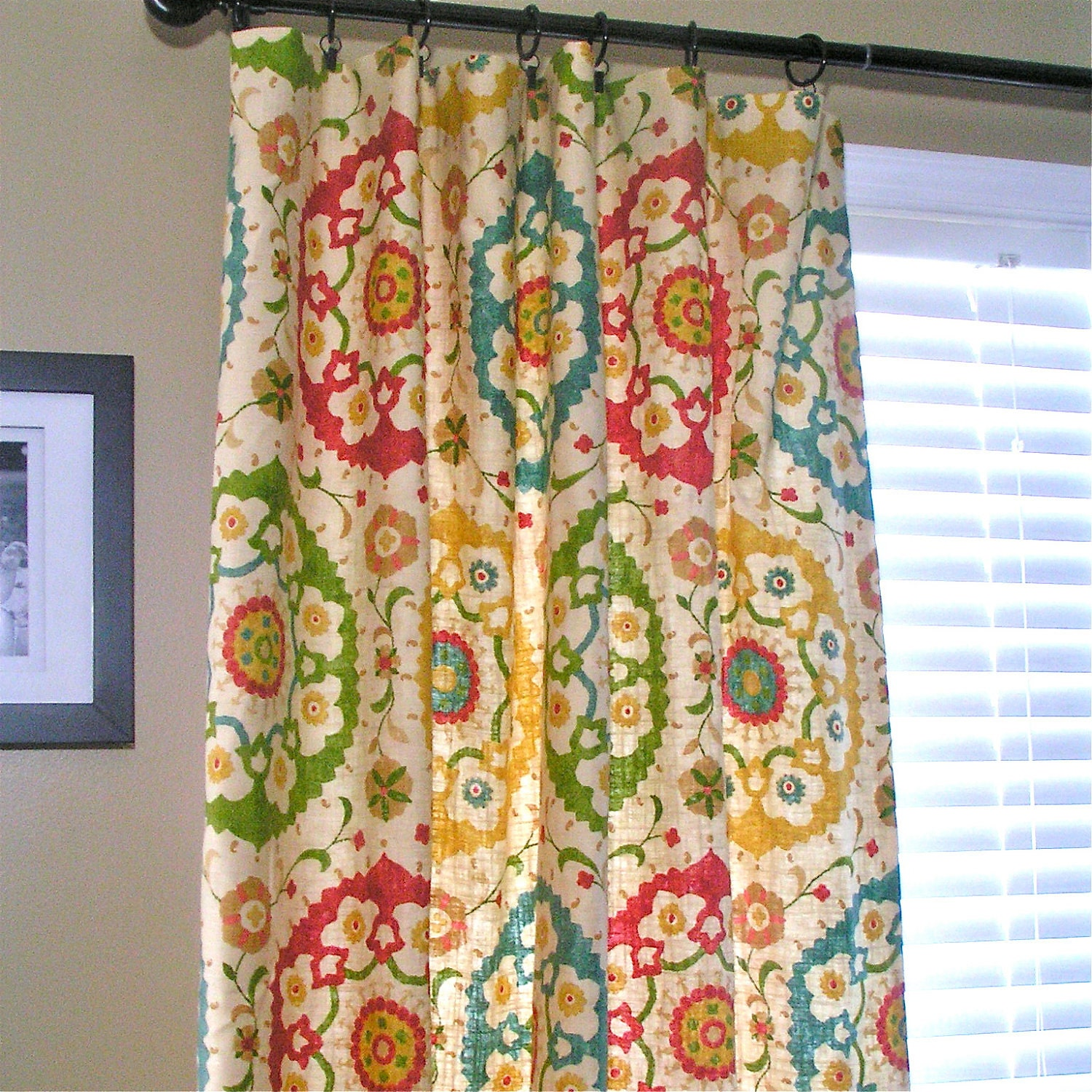 Curtains Ideas bright patterned curtains : Turquoise room, what color curtain panels? — thenest