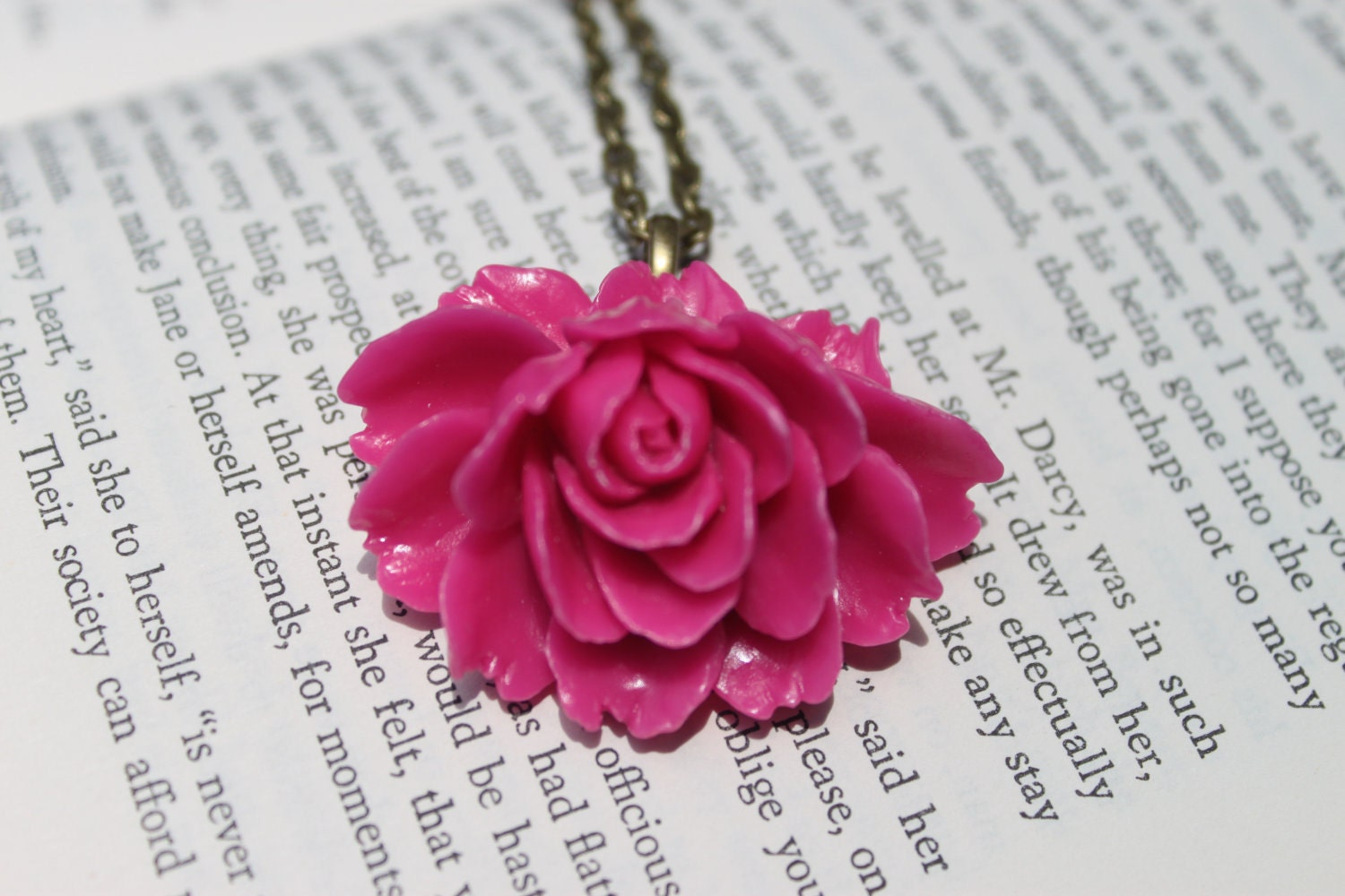 Pink Bloom Cabochon Necklace