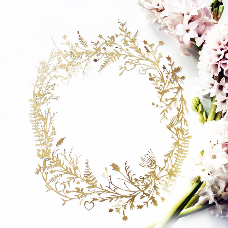 "Oprah ""O"" Botanical Hand Cut Papercut - mrYen"