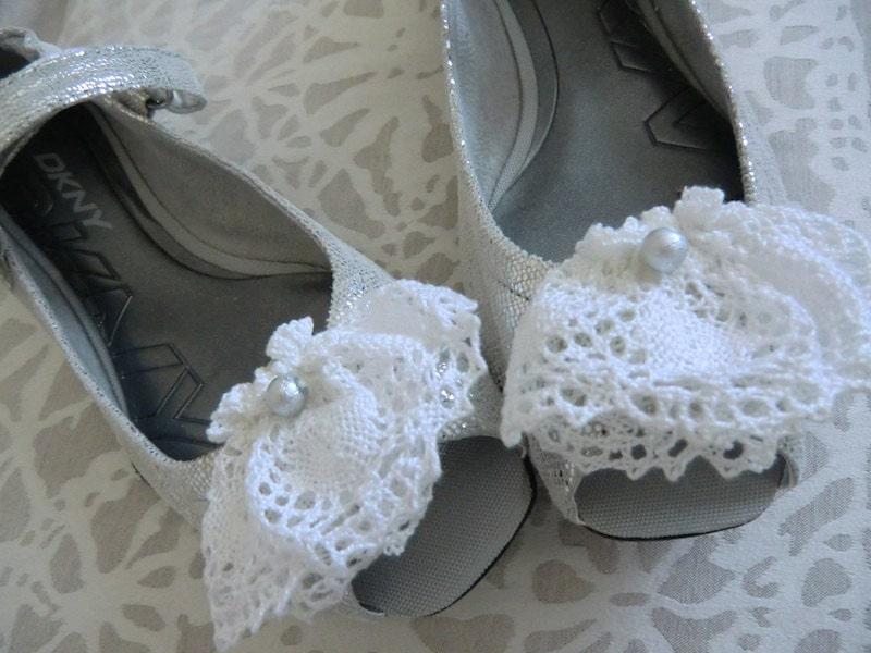 Silver Ballet Flats DKNY
