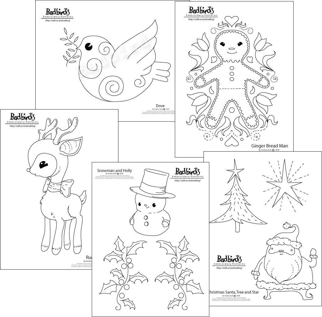 Christmas Embroidery Pattern Set