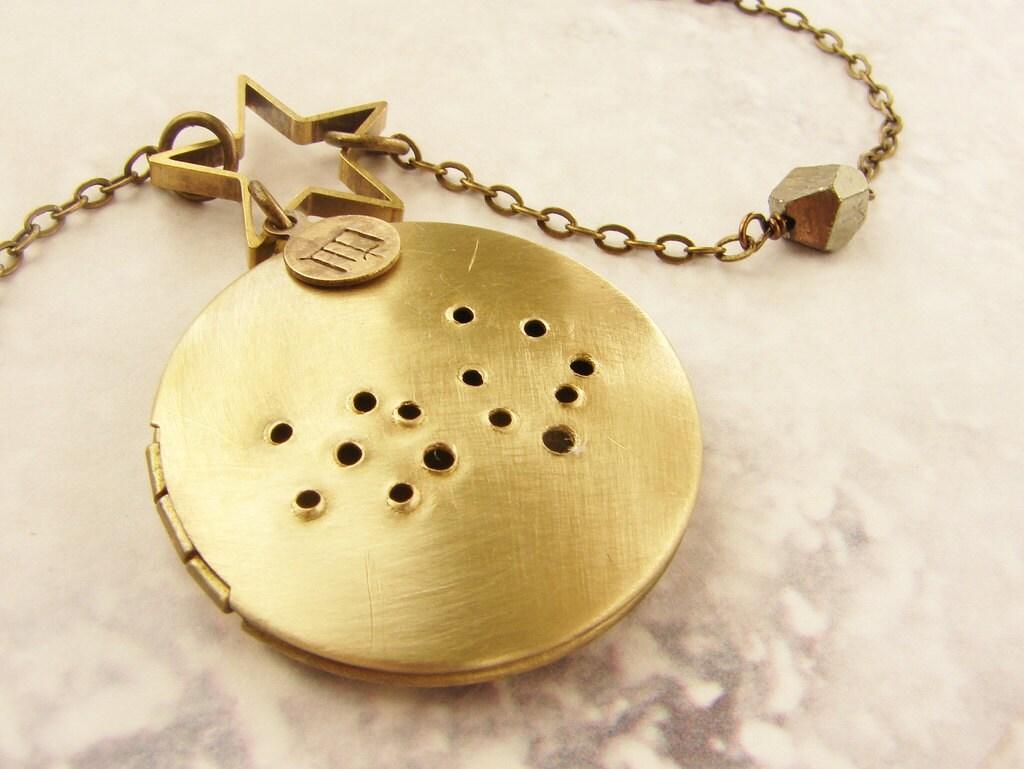 Virgo constellation necklace Virgo horoscope locket August September birthday zodiac sign 12 zodiac constellation long necklace