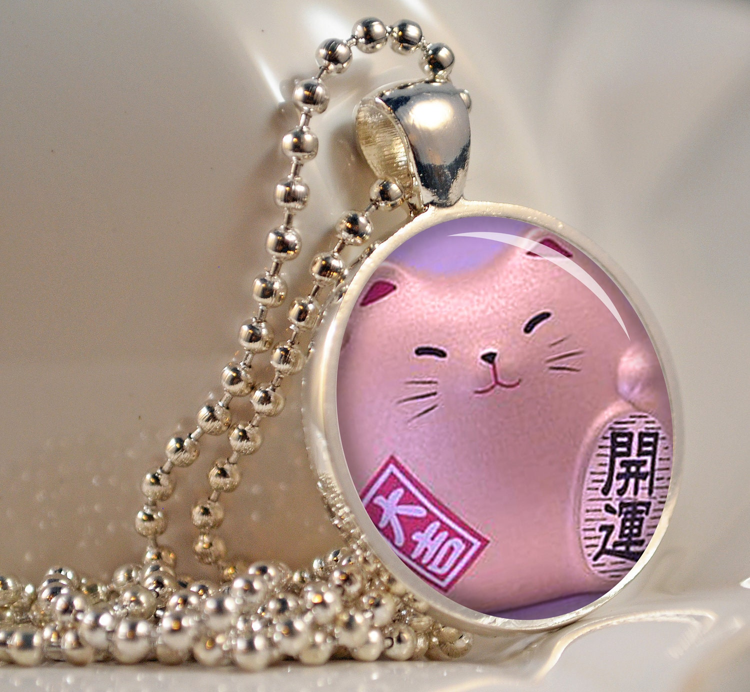 Chinese Lucky Cat Pendant Resin Pendant Picture Pendant Photo Pendant C165S