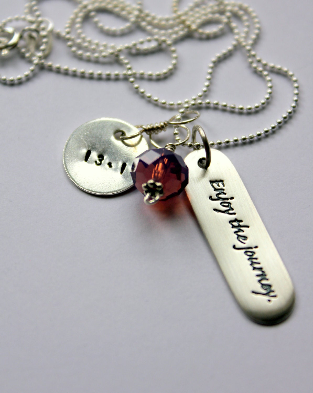 Runners Necklace, Half Marathon, Personalized Quote Running, Marathon Necklace, Running Pendant, Marathon Congratulations
