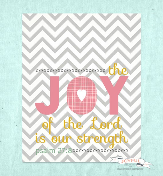 The Joy of the Lord 8x10 Print