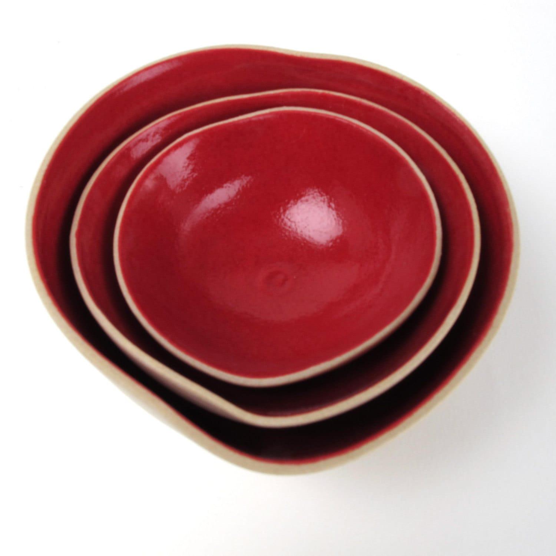 Three nesting CupidoO bowls