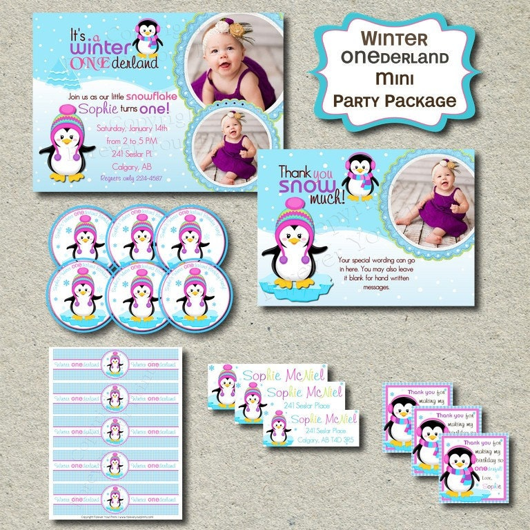 Winter Onederland Party Invitations as adorable invitation layout