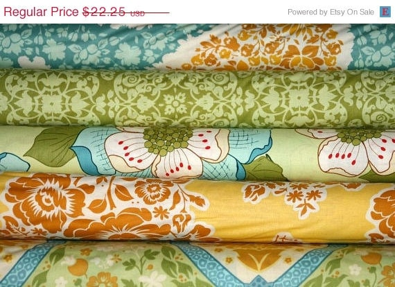 Entire Shop ON SALE Secret Garden by Sandi Henderson for Michael Miller fabrics, 5 Half-yard Bundle (2.5 Yards Total)