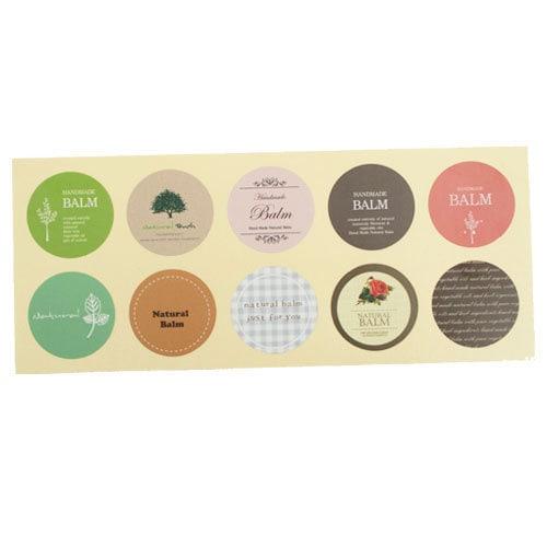 Natural Balm Stickers,3sheet