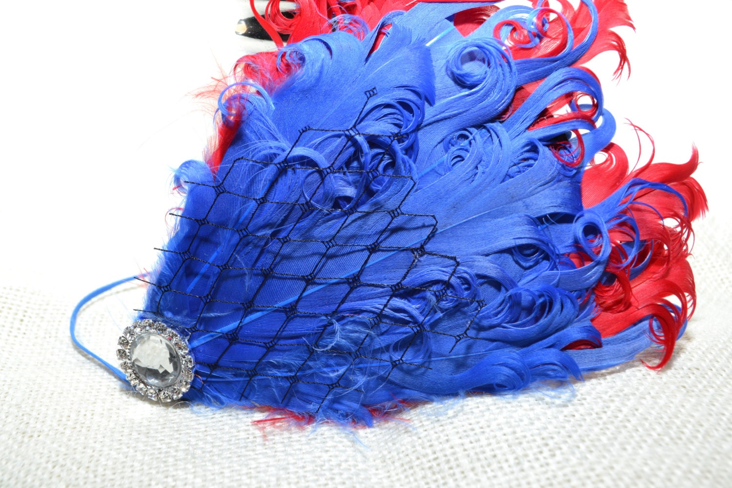 Ostrich/Peacock Feather Fascinator Headband