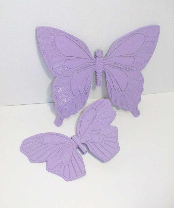 Upcycled Vintage Syroco Butterfly Plaques