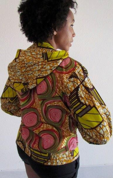 African Print Mix Summer Hoodie