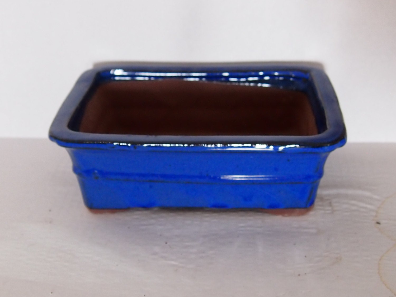Ceramic Bonsai Pot - Blue 8 Inches - BestBonsai