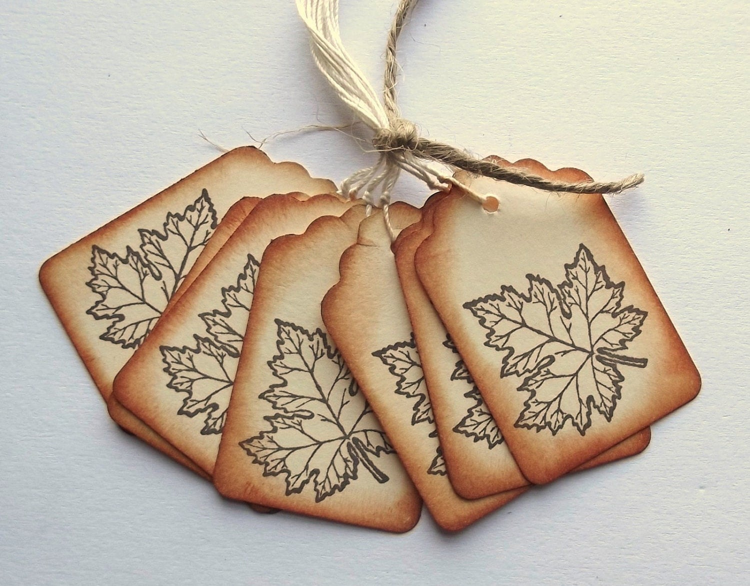 Maple Leaf Hang Tags for Fall