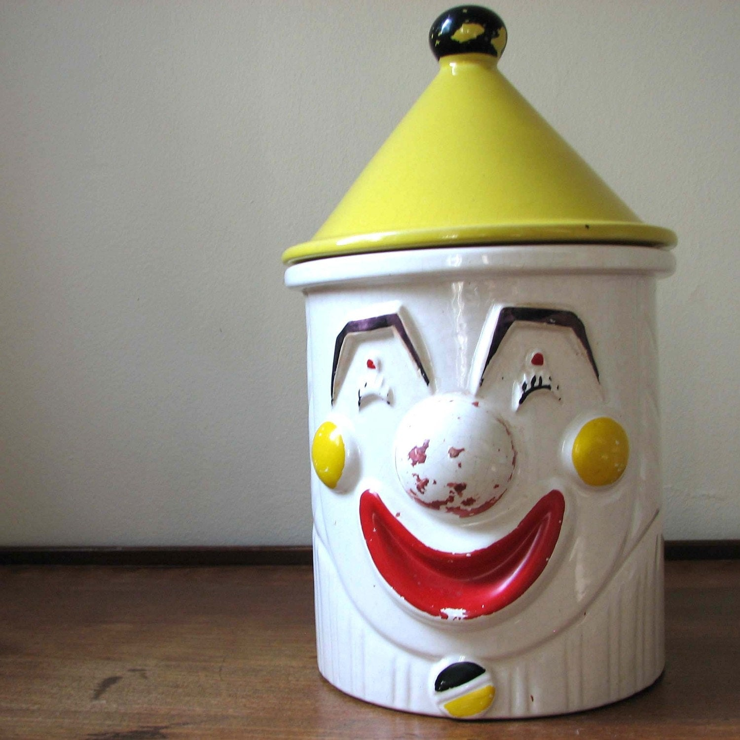 Vintage Clown Cookie Jar - junkytownvintage