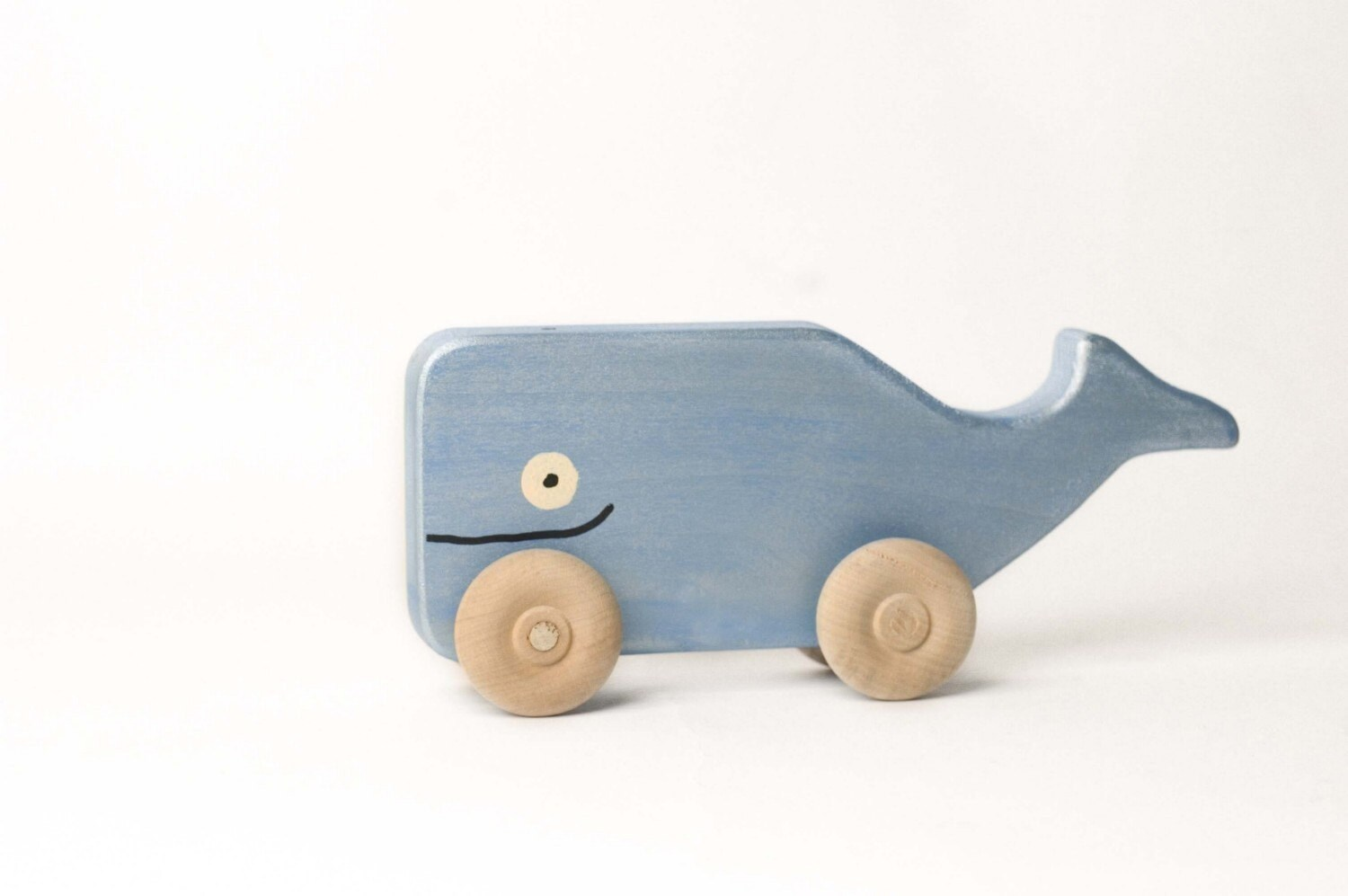 Whale Rollimal - a baby - toddler wooden toy animal - uswoodtoys