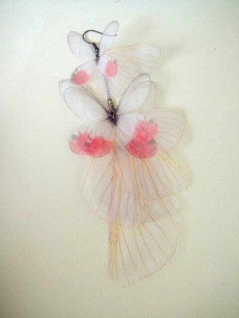 Румяна бабочки Серьга - одной передачи на органза-выписка часть