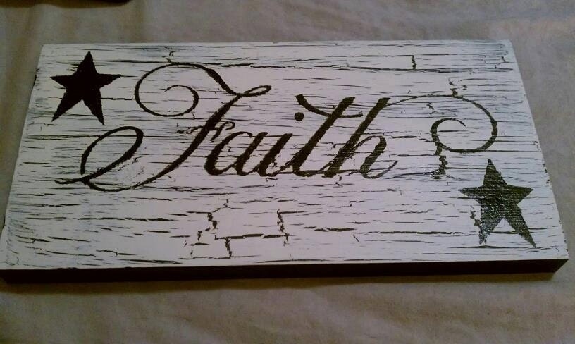 Faith sign Country Home Decor Wood signs by farmhousecreations1