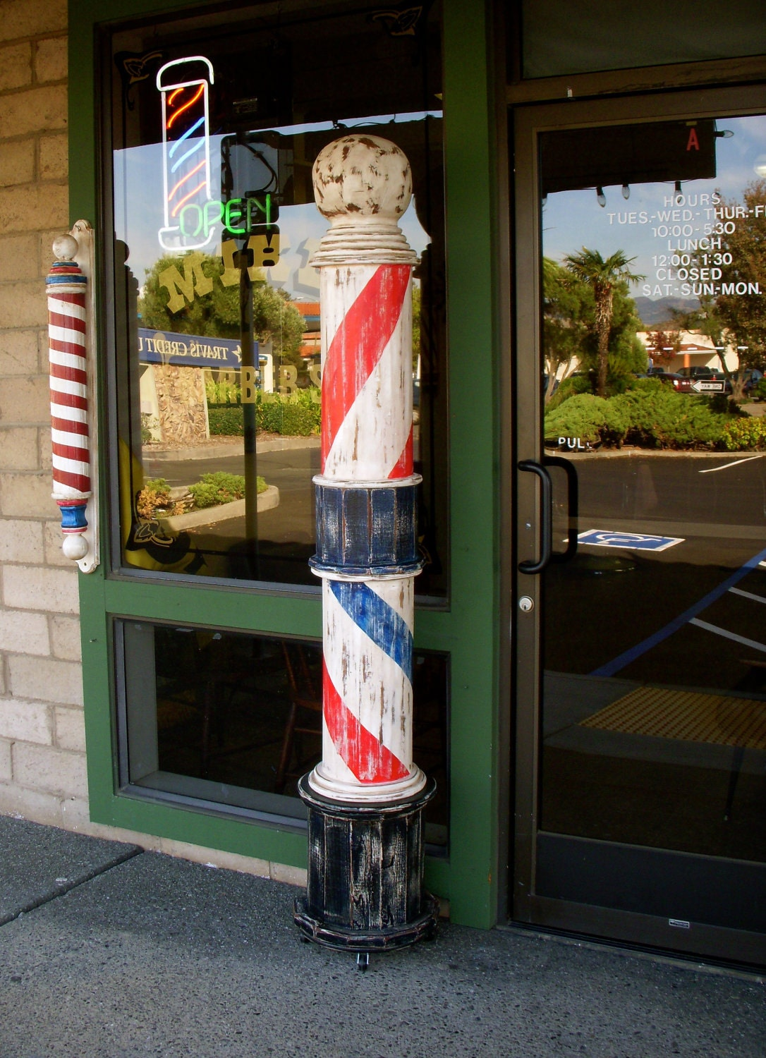 Barber Shop Palo Alto : This is handcrafted by Michael and hand painted and distressed by ...