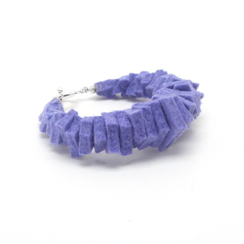 Periwinkle Merino Wool Felt Bracelet - cutcouture