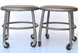Industrial stool 1960s great, useful stool to use around the house or studio - aTreasureInStore