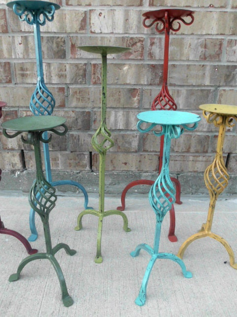Upcycled - FuNkY FarMhOuSe - Architectural Iron HUGE Candle Holder Collection - Sold Individually or as a set