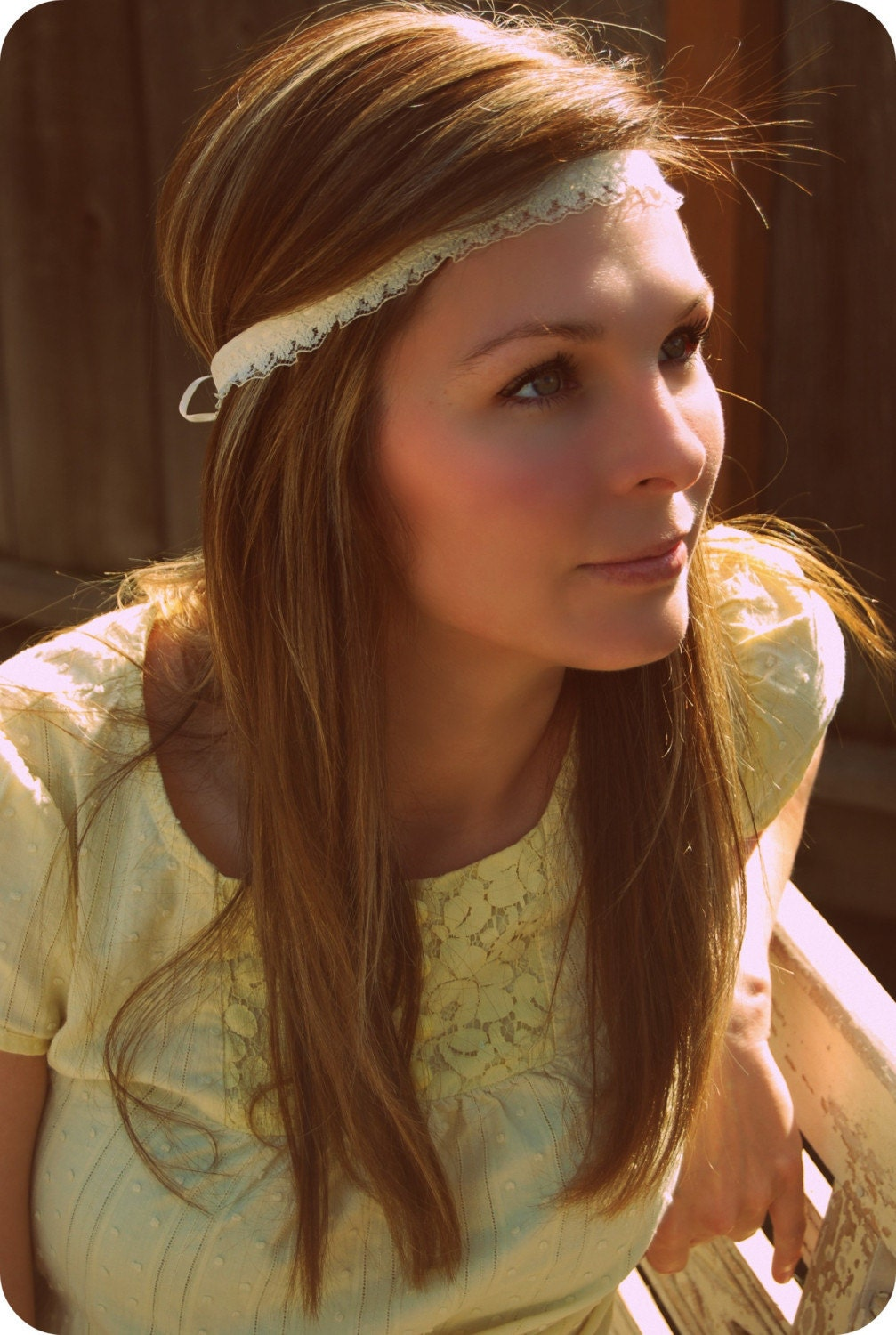 Vintage Lace Hippie Headband From peacelovevintageshop