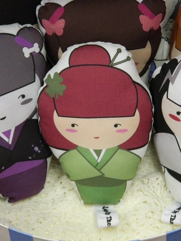 "Stuffed Doll, Kokeshi Dolls 100% Cotton Stuffed Doll, ""Patty"""