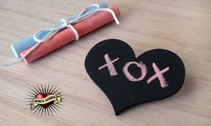 Chalkboard Heart  /  Make a Mark Brooch