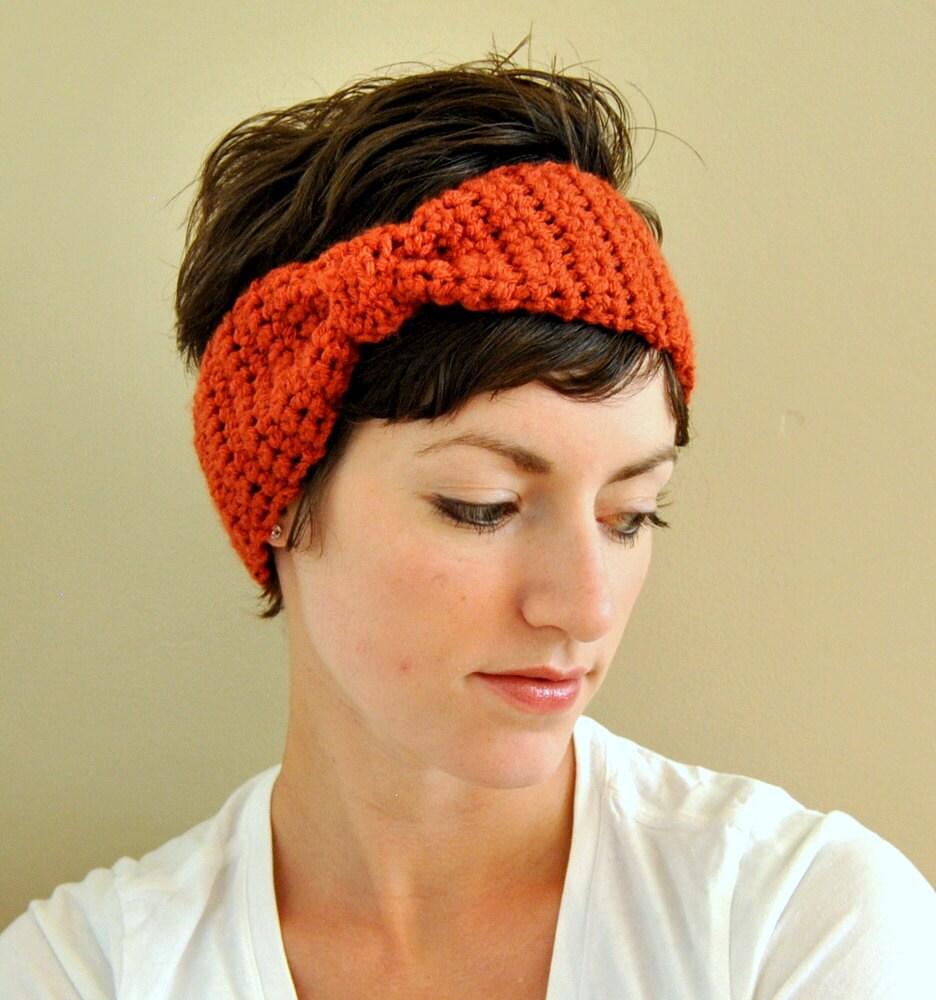 Free Crochet Pattern For Head Scarf : Free Head Wrap Crochet Headband Pattern New Style for ...