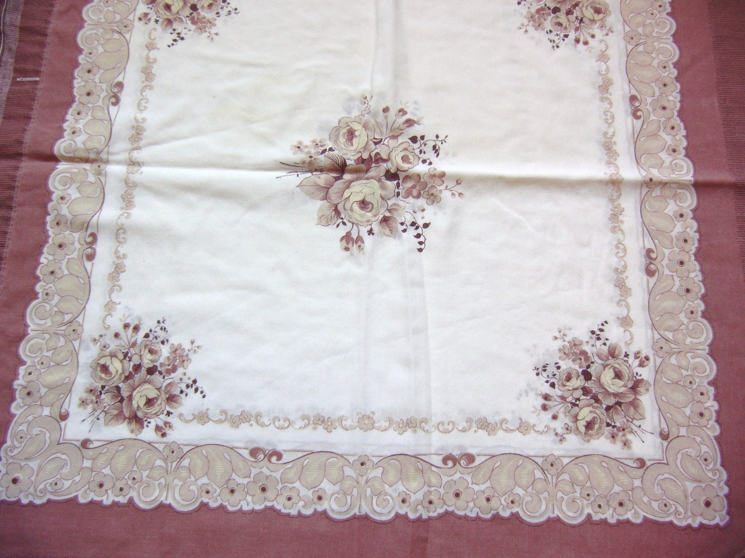 Vintage Pillow Sham Shabby Chic by GardenLaundry on Etsy