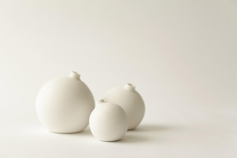 New smaller size set of 3, Small, Medium, Large, porcelain bud vase