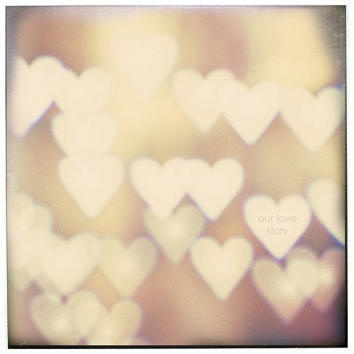 "Love photography Personalized love print ""I Love You"" 8x8 Fine Art Photography Bokeh Hearts - MarianneLoMonaco"