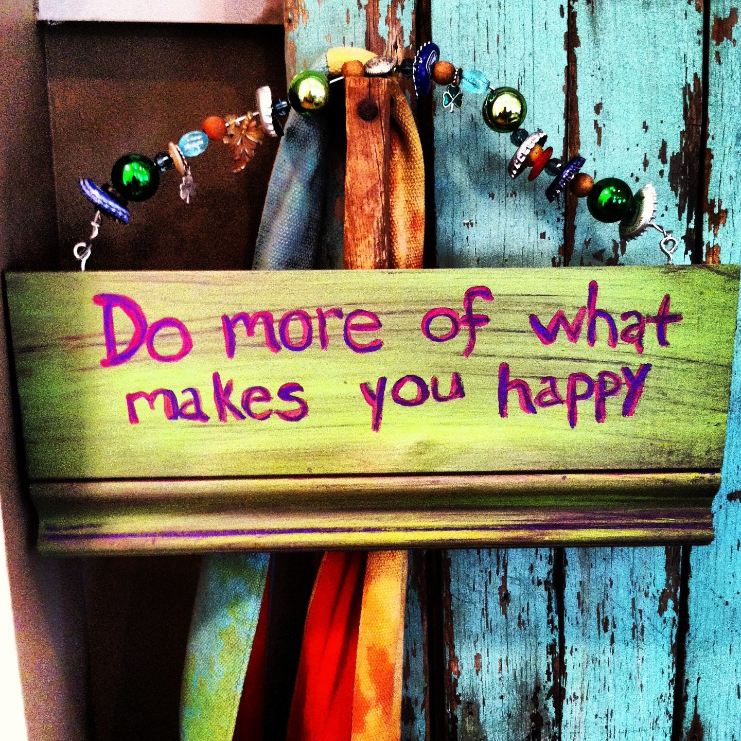 Do What Makes You Happy Folk Art Sign - JulyMoon7