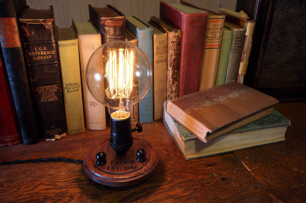 Edison Nostalgic Lamp - Steampunk Lamp - Steampunk Light - Desk Lamp - Table Light - Industrial Light - Desk Light - Unique Light - Timberson