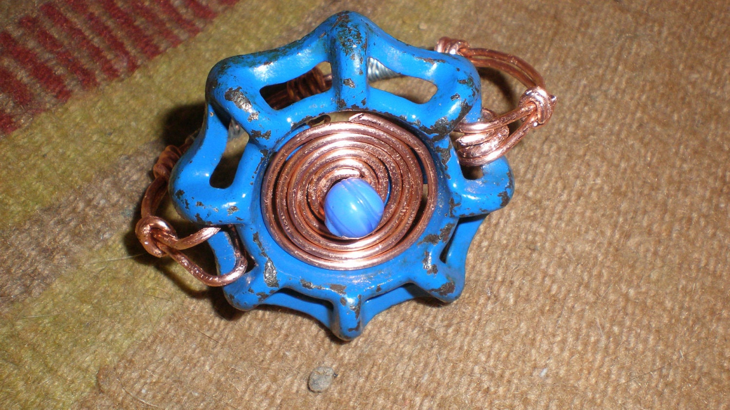 Metal Bracelet Valve Handle Industrial Punk / Steampunk Distressed/Spigot Handle-Upcycled