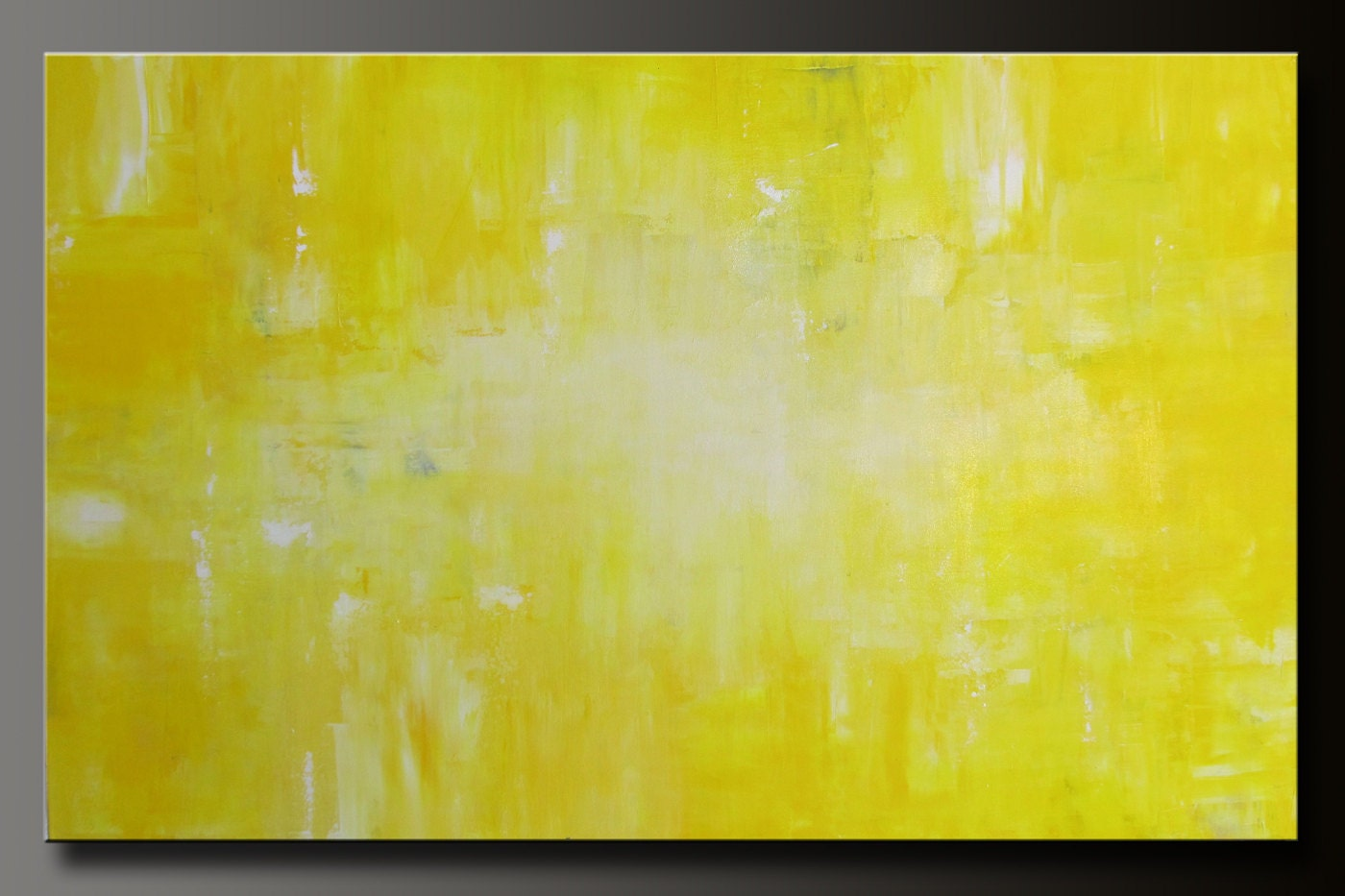 Abstract in Yellow 10 - 48x30 - Abstract Acrylic Painting - Huge - Highly Textured Contemporary Original Wall Art
