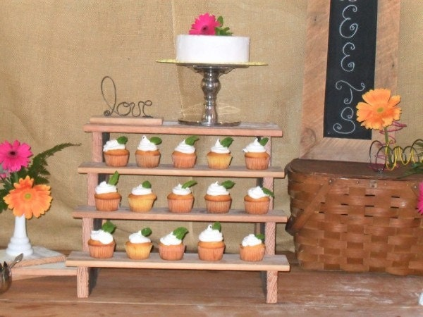 Tiered Cupcake Stand Cake Wedding Party Custom Design Summer Wedding Ideas Reception Bar Bottle Holder Shelf Free Shipping until August 31