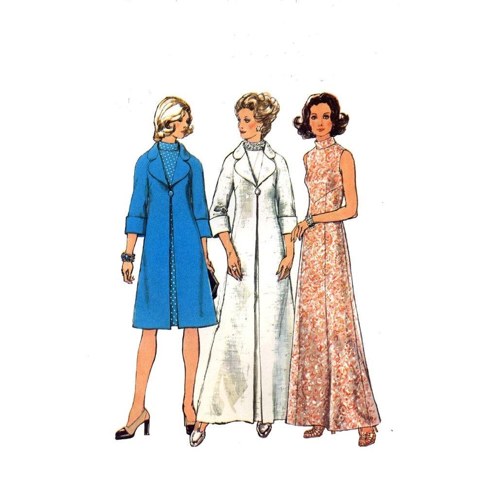 free knit coat dress pattern in Deco-Ribbon Crystal Palace Yarns